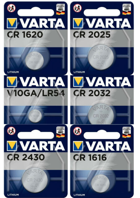 Varta Pile Bouton CR1620 CR2032 CR2430 CR1616 LR54 CR2025 Derniere Production
