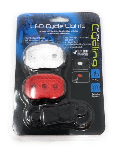DEL Vélo lumière phare avant et arrière Set Clignotant balayage stroboscopique du modes
