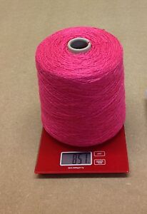 Aran Thickness. 500 Gram Cone 100/% Wool Slub Yarn 2nm knitting//crochet Ecru