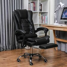 Computer Office Gaming Home Chair Leather Executive Footrest Adjustable Chair