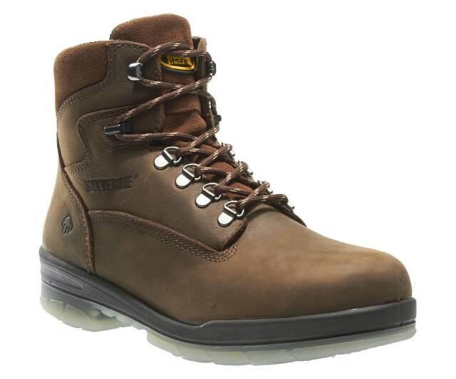 fbf1d2766 New Men's Wolverine 3226 6 inch Durashock Brown leather waterproof Work  Boots