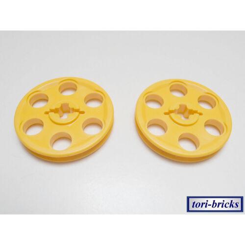 Felge gelb 2 Stück »NEU« # 4185 Lego Technik Umlenkrolle