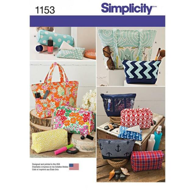 Simplicity Sewing Pattern Bags Bag in Various Sizes 1153 | eBay