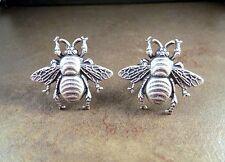 Handmade Oxidized Silver Bee Cuff Links