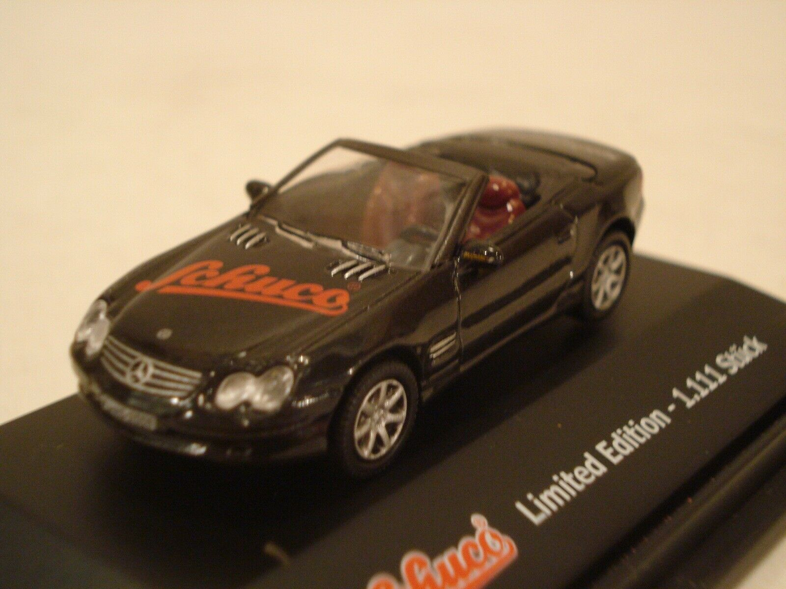 SCHUCO HO Edition Mercedes-Benz 500Sl Cabriolet magasin messe 1 87 Diecast NEW IN BOX