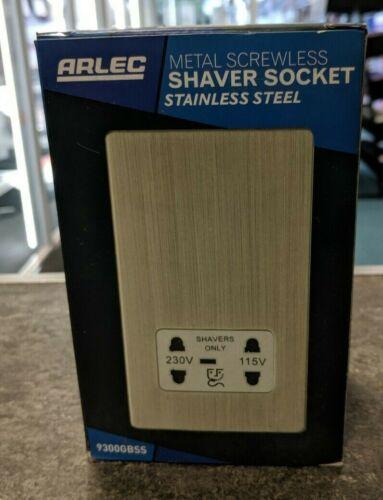 Métal Vis Shaver Socket-Acier inoxydable ARLEC 9300 GBSS