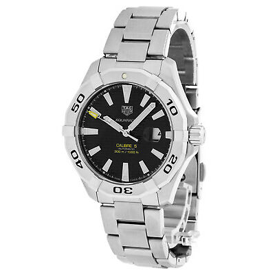 Tag Heuer Aquaracer Calibre 5 Black Dial Auto Men's Watch WAY2010.BA0927