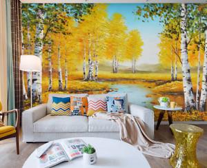 3D golden Trees Lake 7 Wall Paper Murals Wall Print Wall Wallpaper Mural AU Kyra
