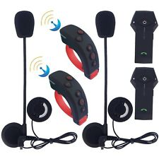 2x Moto BT Bluetooth casco Interphone Intercom Auriculares remoto de control L3