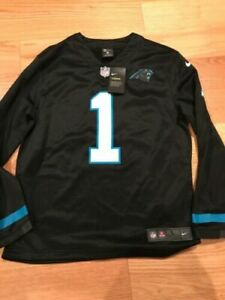 pretty nice 41ac8 6f729 Nike NFL North Carolina Panthers Player Therma Jersey Black L Ah5739-016