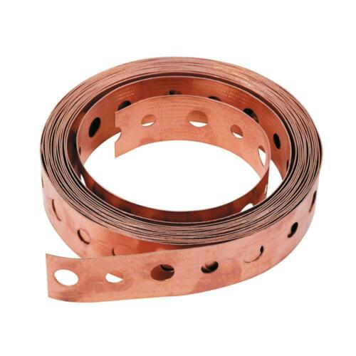 x 10 ft 3//4 in 24-Gauge Copper Hanger Strap Flexible And Easy To Work With