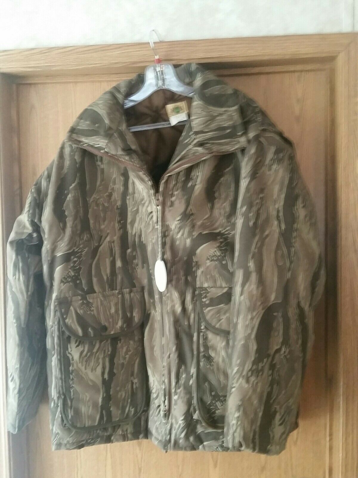 Vtg Ideal Standing Timber Hardwoods Camo Parka XL Heavy Warm Hunting Coat.