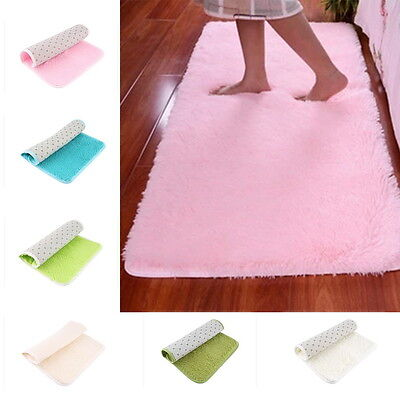 Soft Anti-skid Carpet Flokati Shaggy Mat Rug For Living Dining Bedroom Floor H5