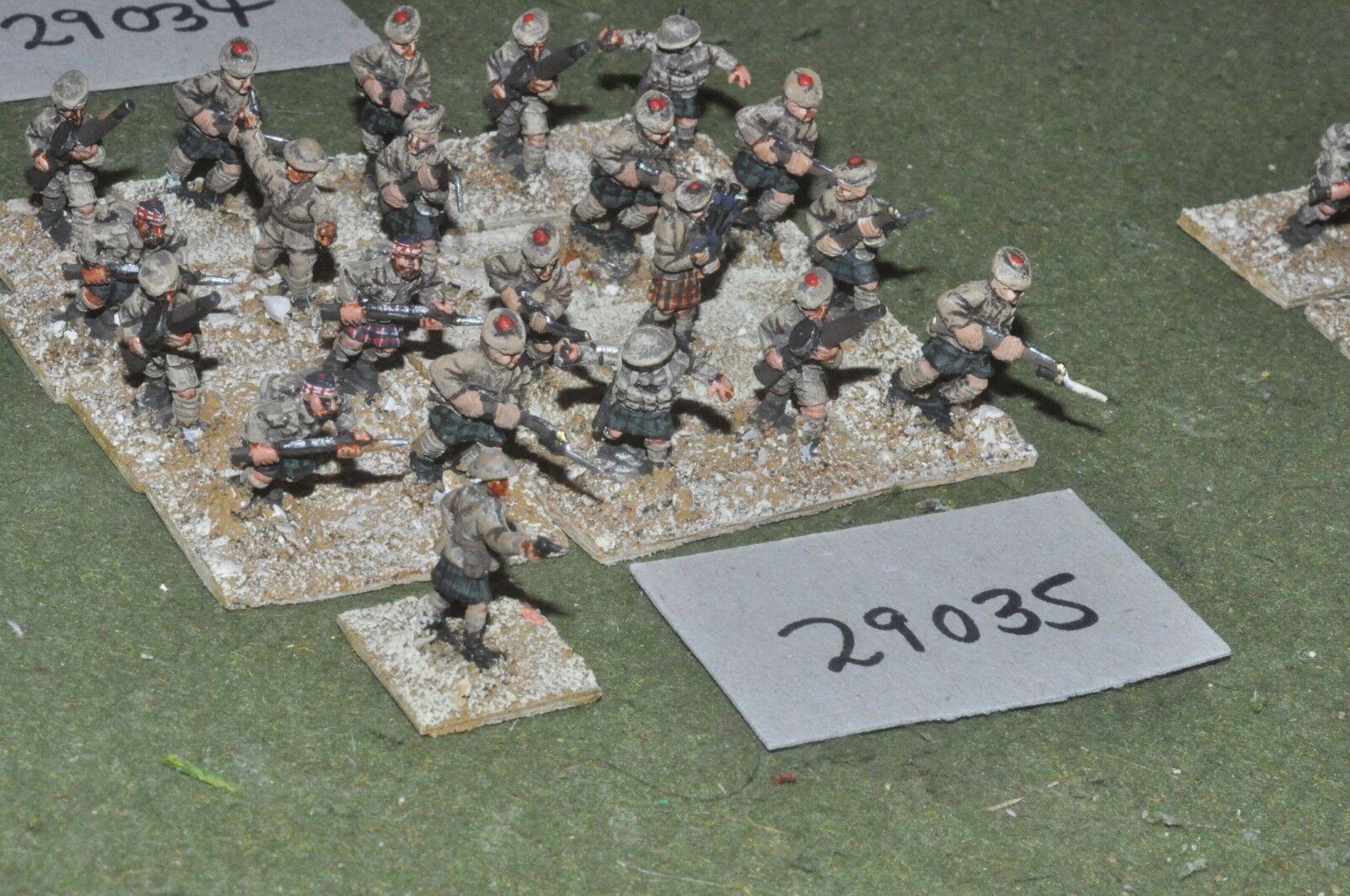 20mm WW1   british - scots middle east 21 figures - inf (29035)