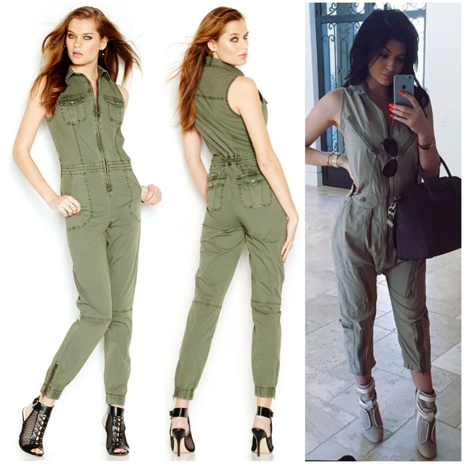 Guess Military Enzyme Wash JUMPSUIT