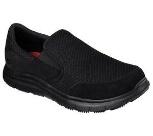 Skechers Shoe Work Wide Width Black Men