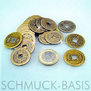 15 X Chinesische Glücks Münzen Glücksbringer Feng Shu Ebay