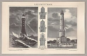 Leuchtturm-von-winouj-cie-Swinemuende-Stich-Holzstich-um-1885