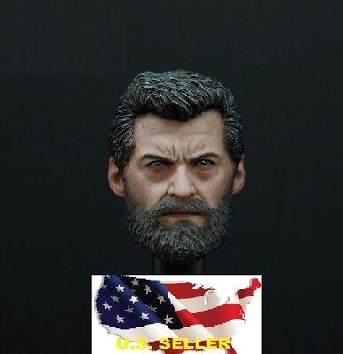 1//6 Male head Wolverine Hugh Jackman Logan 3.0 for Ganghood phicen hot toys❶USA❶