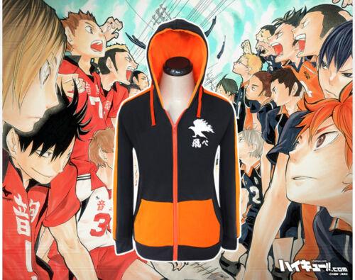 Karasuno High School Hinata Syouyou Jacket Hoodie Cosplay Costume Haikyuu!