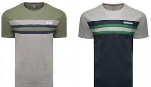 Details about  /Lambretta Mens Stripe Stretch Casual Fashion Crew Neck Cotton T-Shirt Tee Top