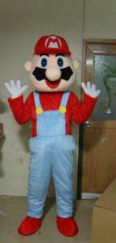 Super Mario Game Adult Mascot Costume Party Birthday Movie Cartoon Cosplay NEW