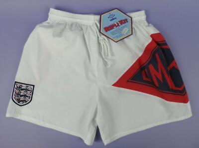 """England Umbro Repli Kit 30"""" Swim Pantaloncini, Originale Inutilizzata Vintage Negozio Stock-mostra Il Titolo Originale Risparmia Il 50-70%"""