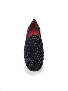 Slipper 181 in black velvet with stones