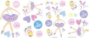 Disney princess ballerina barbie wall stickers girls room for Barbie princess giant wall mural