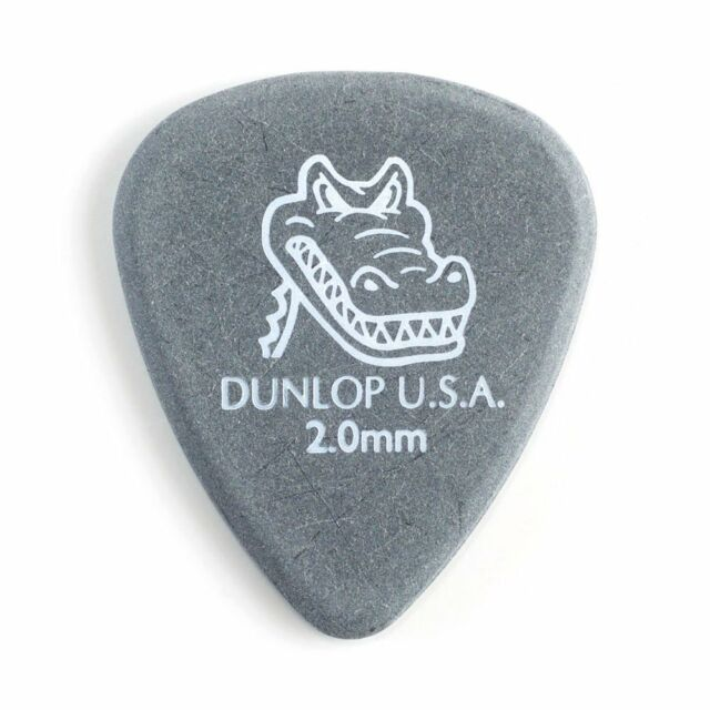 Jim Dunlop 417P200 Gator Agarre Guitar Picks-vía 2.0mm - Paquete de 12