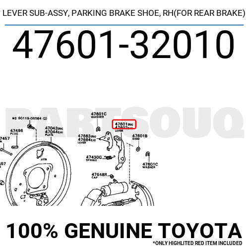 Toyota 47601-32010 Parking Brake Lever