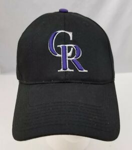 Colorado-Rockies-Baseball-Cap-Trucker-Hat-MLB-Black-Adjustable-Size-NEW