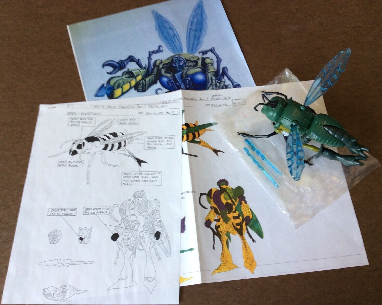 PROTOTYPE Transformers Beast Wars BuzzSaw First Shot w  Design Documents