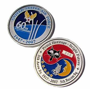 US-Air-Force-60th-Anniversary-5th-Aero-Sq-5th-Recon-Sq-Challenge-Coin