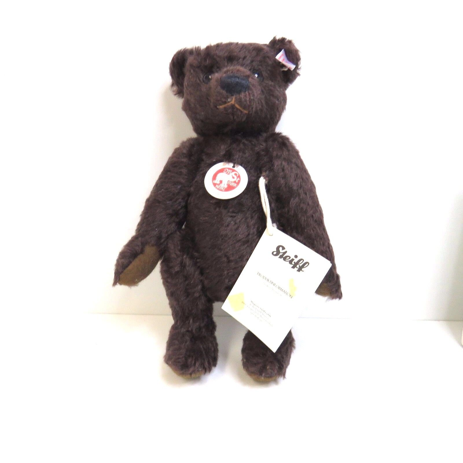 Teddybär 26 Mohair dunkelbraun Steiff  036293 NEUWARE