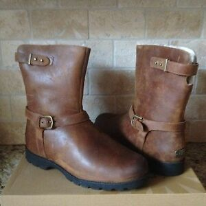 8a1b68dd976 Details about UGG GRANDLE CHESTNUT WATER-RESISTANT LEATHER SHEEPSKIN BOOTS  SIZE US 12 WOMENS