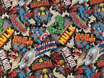 OOP /& RARE! MARVEL AVENGERS SUPER HERO Cotton Fabric 1//2 Yard to 1 YARD