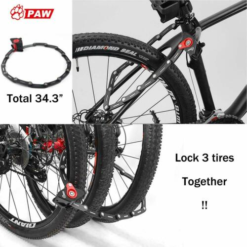 Folding Lock for Bike with Rubber Mounting Bracket Heavy Duty Bicycle Loc