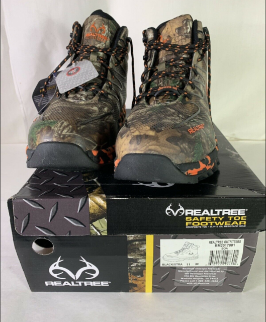 """RM2017001 Men/'s RealTree 6/"""" Safety Toe Boot"""