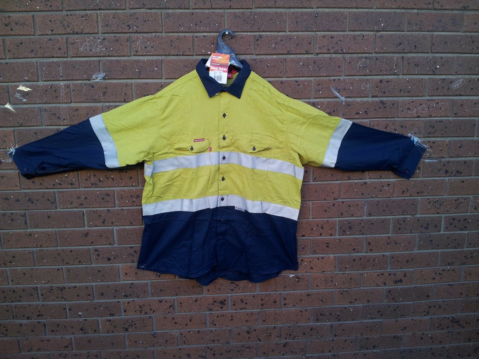 HARD YAKKA PredECT SIZE 4XL LONG SLEEVES WORK  SHIRT  WEAR BRAND NEW WITH TAGS