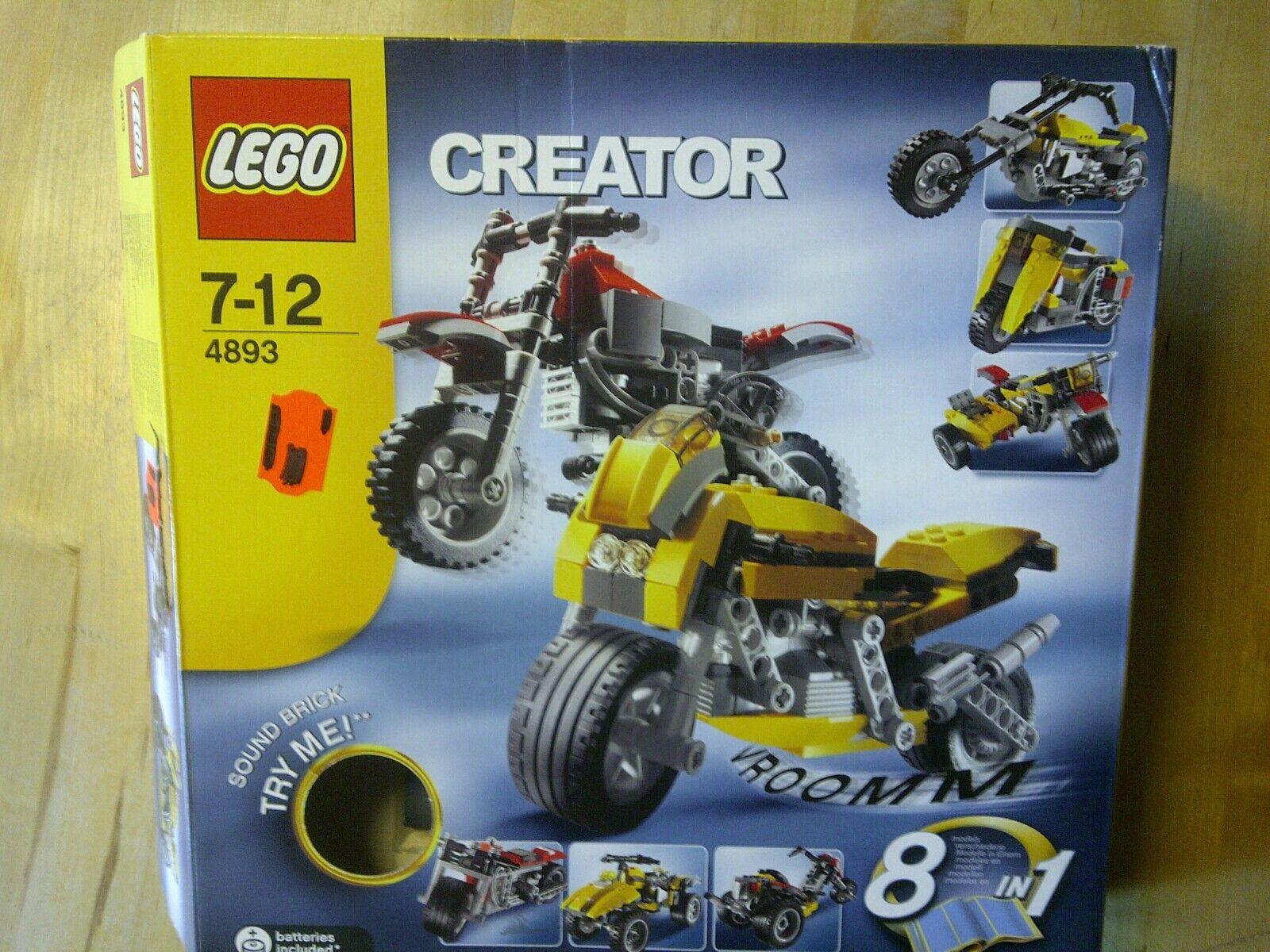 Lego Creator 4893, Motorräder, gebraucht mit BA, Soundstein und OVP