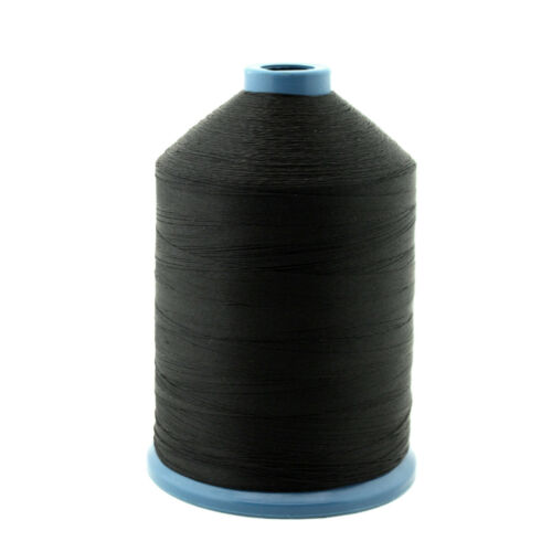 6000 Yards Spool For Leather Upholstery Black Tex 70 Bonded Nylon Thread #69