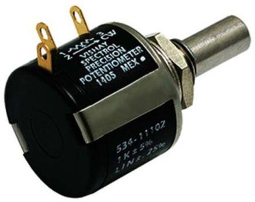 10-Turn 1kÎ ©, Vishay 534 Series Wirewound potenciómetro con un eje de 6 mm de diámetro