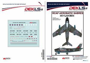 1-144-Canadair-Sabre-RCAF-Sky-Lancers-Aerobatic-Team-Pre-1956-Decal-DEKL-039-s-II