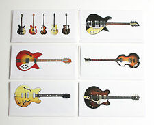 The Beatles' Guitars, Pack of 6 Greeting Cards, DL size