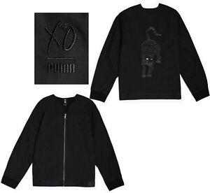 7f7d354f459b Puma X The Weeknd Xo Mens Full Zip Kimono Bomber Jacket Black 576896 ...