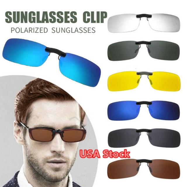 5 Colors New Popular Polarized UV400 Lens Clip-on Flip-up Myopia SunGlasses