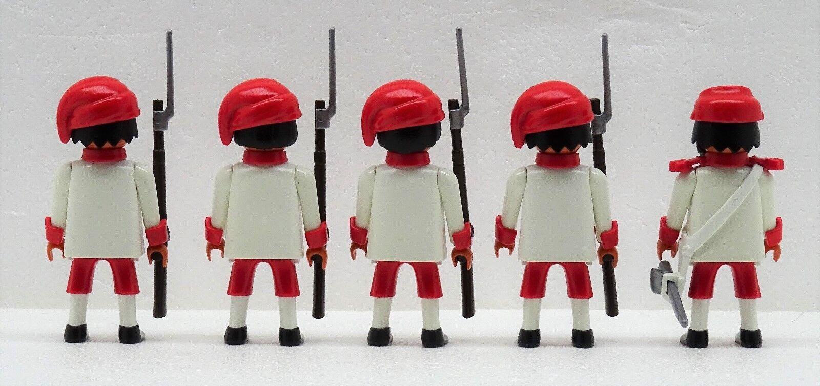 Zouave 4 SOLDATS + Playmobil OFFICIER A Playmobil + citoyen du Nord contre sudistes ACW e2d1f3