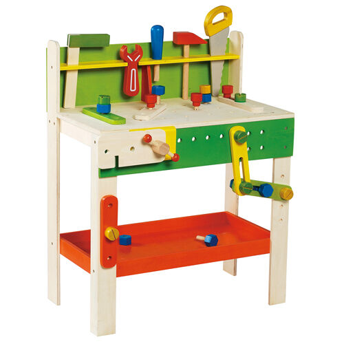 Everearth 33552Carpenters Wood Workbench-2010Tools ShownBoys & Girls-3+ Lmtd.