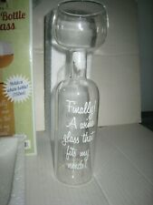 The Wine Bottle Glass Big Mouth Toys